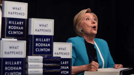 Hillary Clinton présentant son livre «What Happened ?» à New York