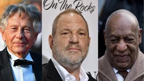 De gauche à droite, Roman Polanski, Harvey Weinstein et Bill Cosby, tous impliqués dans des accusations d'agressions sexuelles.