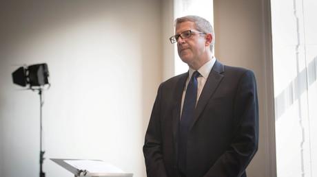 Le général Andrew Parker du MI5, le 17 octobre lors d'une conférence de presse