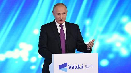 Vladimir Poutine à Sotchi le 19 octobre 2017, photo ©Grigoriy Sisoev / Sputnik