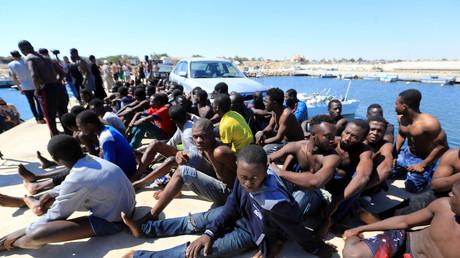 Migrants secourus sur les côtes libyennes en juillet 2017 (image d'illustration).