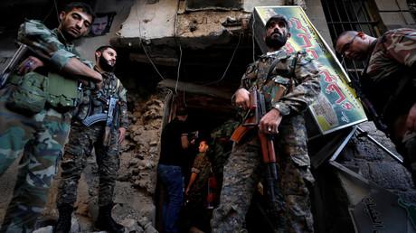 Des soldats syriens à Damas
