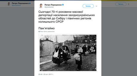Le président ukrainien fait passer des juifs déportés pour des Ukrainiens envoyés en Sibérie