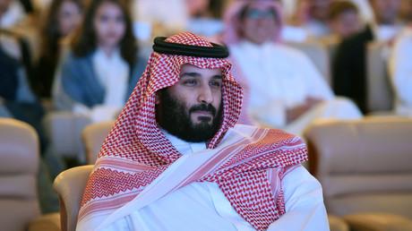 Le prince Salmane à la conférence de Riyad le 24 octobre.