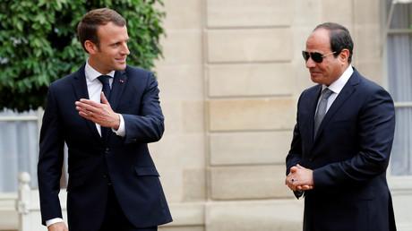 Emmanuel Macron et le président égyptien Abdel Fattah al-Sissi au Palais de l'Elysée, 24 octobre 2017.