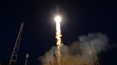 Un lancement de fusée au cosmodrome de Baïkonour, au Kazakhstan (image d'illustration).