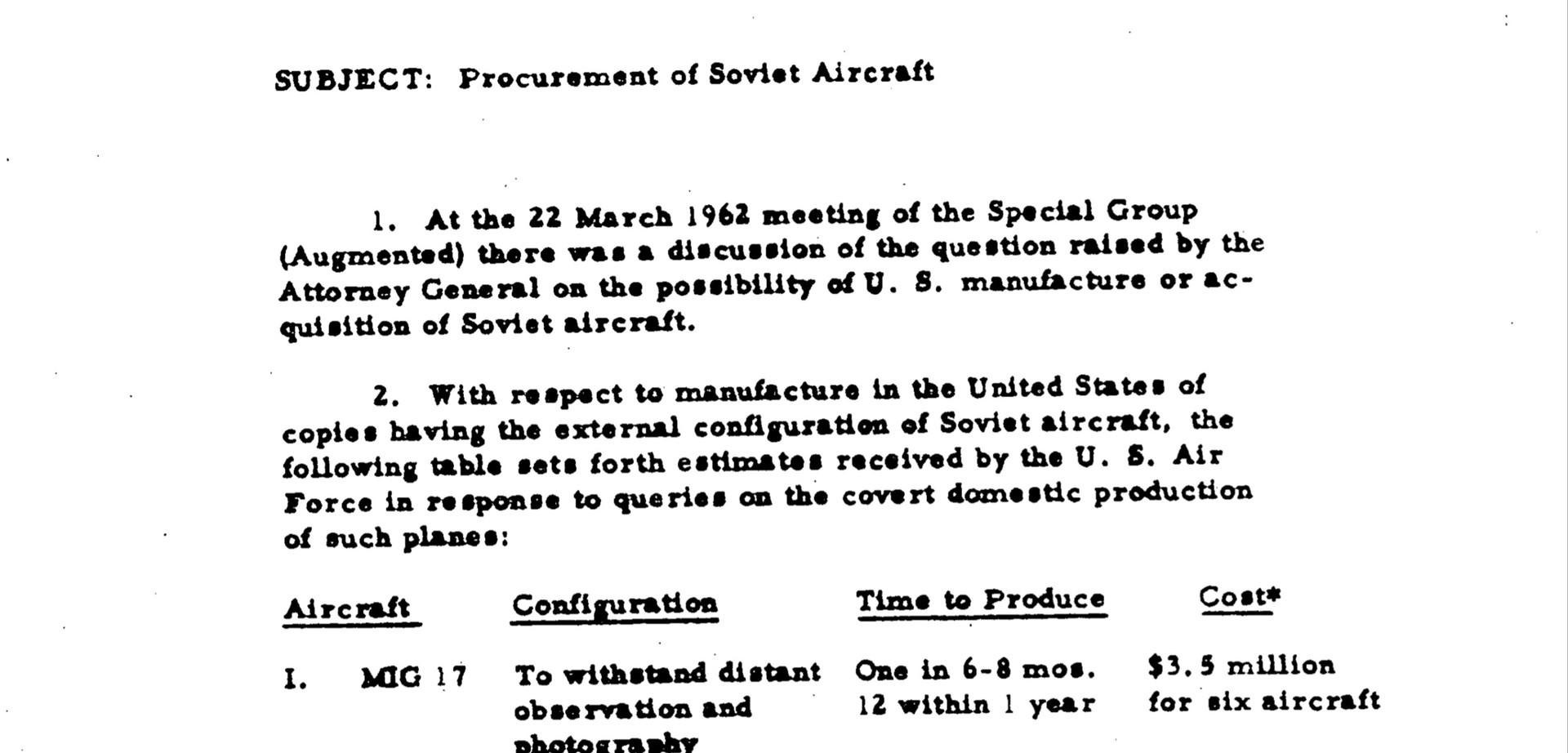 Pour déclencher une guerre avec l'URSS, Robert Kennedy voulait utiliser un faux avion soviétique
