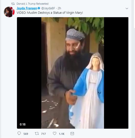 Trump reprend des vidéos d'une activiste anti-islam britannique, Londres monte au créneau