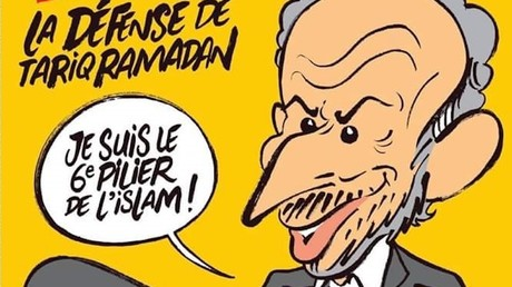 Capture d'écran de la Une de Charlie Hebdo, Twitter @cocoboer, DR