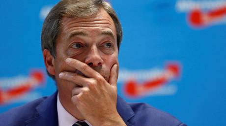 Illustration : Nigel Farage, ex-dirigeant du parti eurosceptique UKIP, photo ©Hannibal Hanschke/Reuters
