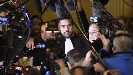 Patrick Klugman s'exprime au terme du procès d'Abdelkader Merah, le 2 novembre 2017, photo ©STEPHANE DE SAKUTIN / AFP