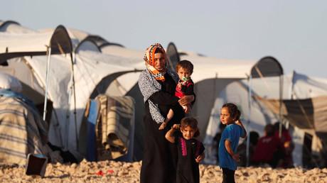 Des réfugiés dans un camp en Syrie