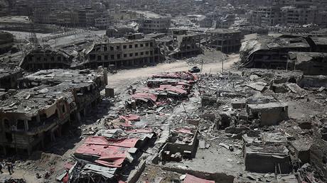 La vieille ville de Mossoul détruite
