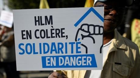 Manifestation contre la baisse des APL le 17 octobre 2017, photo ©Lionel BONAVENTURE / AFP