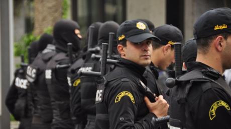 Des policiers tunisiens en exercice, le 3 novembre 2017.