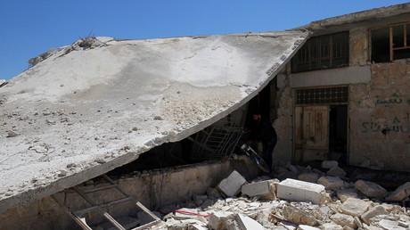 Des destructions à Khan Cheikhoun le lendemain de l'attaque chimique