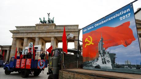 Evocation de la révolution russe à Berlin le 7 novembre 2017.