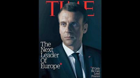 La une du Time avec Emmanuel Macron