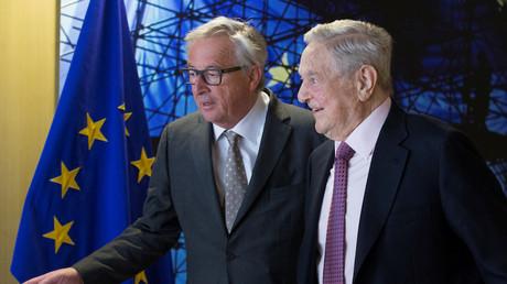Le président de la Commission européenne Jean-Claude Juncker et George Soros en avril 2017, photo ©Reuters/Pool