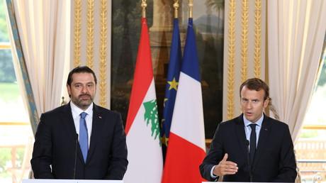 Emmanuel Macron et Saad Hariri à l'Elysée en septembre 2017