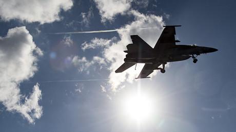 Un jet  F/A-18E Super Hornet de l'aviation américaine, crédits photo : Département d'Etat/Armée américaine
