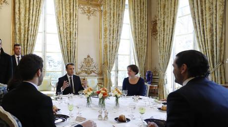 Emmanuel Macron et Saad Hariri ont déjeuné ensemble à l'Elysée