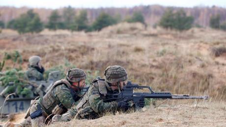 Des soldats de l'OTAN lors des exercices en octobre 2017 en Lituanie