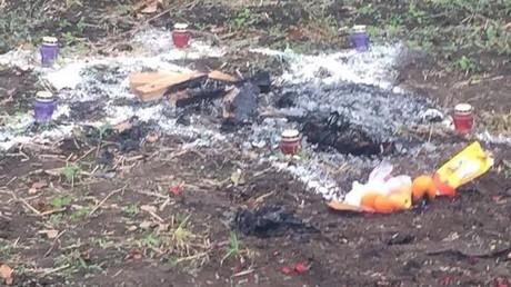Ukraine : un homme brûlé pendant un rituel sataniste, 3 ressortissants turcs arrêtés (PHOTOS CHOC)