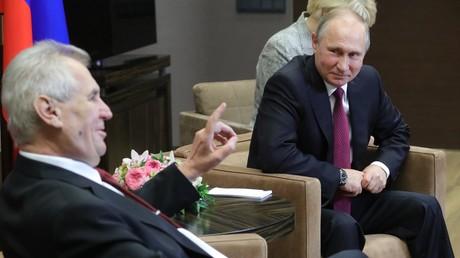 Milos Zeman et Vladimir Poutine pendant une rencontre à Sotchi
