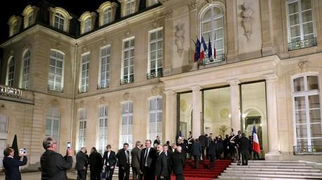 Les maires reçus à l'Elysée, le 22 novembre