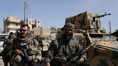 Des combattants des Forces démocratiques syriennes à Raqqa, que Washington envisage de soutenir «ouvertement»