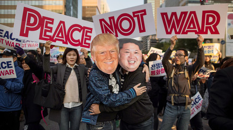 Des manifestanfs à Séoul (image d'illustration)