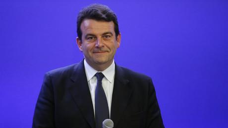 Le député Thierry Solère au siège de l'UMP en 2015, illustration