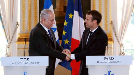 Benyamin Netanyahou et Emmanuel Macron le 16 juillet à l'Elysé