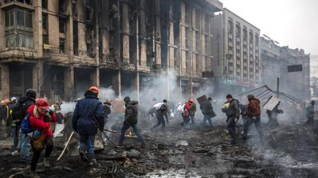 La place du Maïdan à Kiev, le 20 février 2014