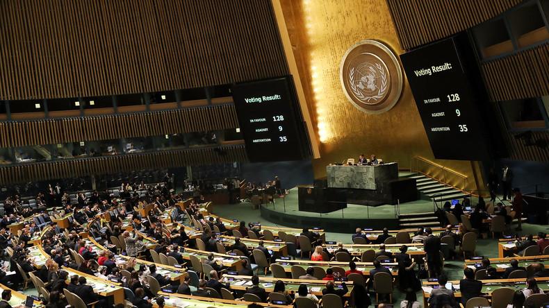 Jérusalem capitale d'Israël : l'ONU condamne à une large majorité la décision américaine
