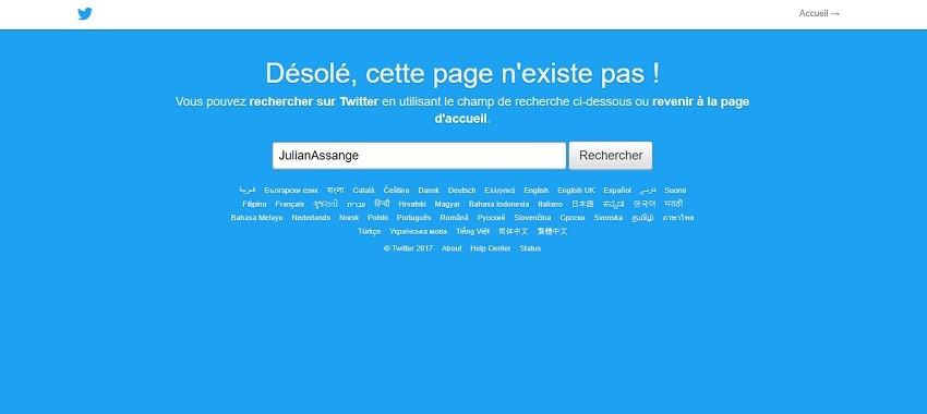 Qu'est-il arrivé au compte Twitter de Julian Assange, supprimé puis réapparu ?