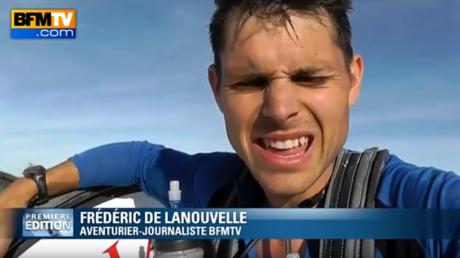 Frédéric de Lanouvelle en pleine performance sportive sur son ancien média, capture d'écran Youtube, illustration