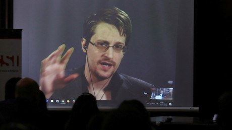 Le lanceur Edward Snowden en 2016, photo ©Marcos Brindicci/Reuters
