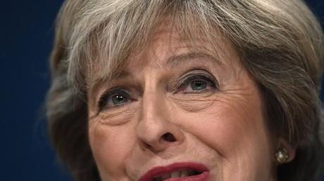 Le Premier ministre anglais lors d'une conférence du parti conservateur à Birmingham, octobre 2016, illustration