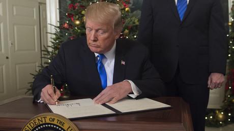 Donald Trump à la Maison blanche le 6 décembre