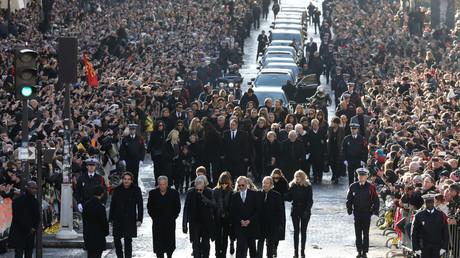 Le cortège funéraire de Johnny Hallyday, le 9 décembre