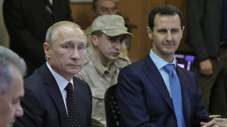 Vladimir Poutine et Bachar el-Assad le 11 décembre 2017, photo ©Mikhail KLIMENTYEV / POOL / AFP