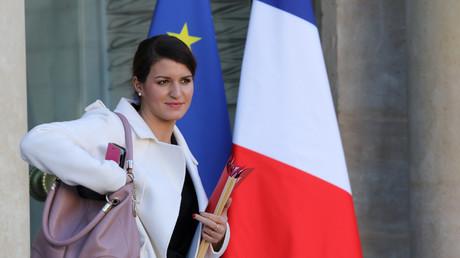 Marlène Schiappa sortant de l'Elysée en novembre 2017.