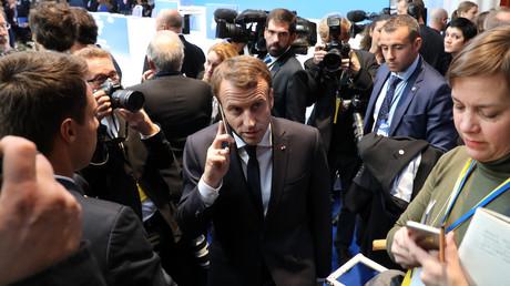 Emmanuel Macron le 17 novembre 2017, photo ©Ludovic MARIN / AFP