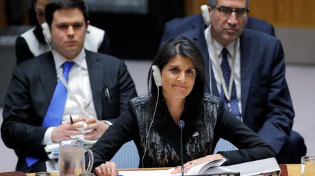 NIkki Haley représente les Etats-Unis auprès de l'ONU, illustration