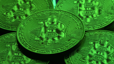 Jetons Bitcoin, illustration