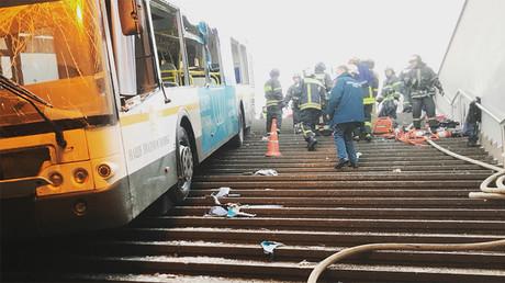 Un bus a dévalé dans un passage souterrain le 25 décembre à Moscou