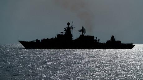Un bateau de guerre russe croise en Méditerranée, illustration
