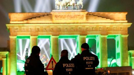 Les forces de l'ordre à Berlin, illustration